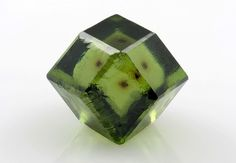 Demantoid green garnet from Italy - mineral specimen