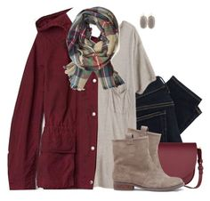 Hooded jacket, boyfriend tee & plaid scarf by steffiestaffie on Polyvore featuring polyvore, fashion, style, Mlle Mademoiselle, Gap, Polo Ralph Lauren, Sole Society, Sophie Hulme, Kendra Scott, women's clothing, women's fashion, women, female, woman, misses and juniors