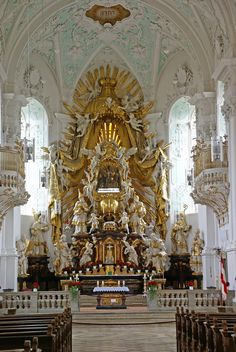 "The High Altar at Gössweinstein (Bayern, Franken) Wallfahrtskirche (So tempted to say ""Holy Crap!"")"