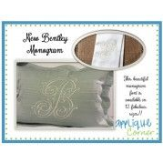 Applique Corner Bentley Monogram Embroidery Font