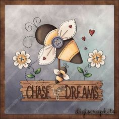 Chase Your Dreams 8x8 Glass Block Design