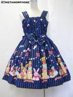 Metamorphose temps de fille / Jumper Skirt / Candy Star Rabbit Shirring JSK