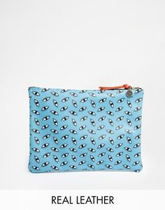 Leather Statement Clutch - SPARKLING MIDNIGHT BLUES by VIDA VIDA Buy Cheap Pay With Visa BefPiL