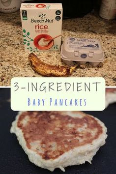 These are the baby pancakes we used to make for my daughter using rice cereal when we were concerned about her iron levels.
