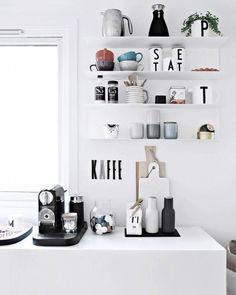 Kitchen Interior, Interior And Exterior, Kitchen Decor, Boho Kitchen, Nordic Interior, Kitchen Styling, Decoration Inspiration, Interior Inspiration, Küchen Design