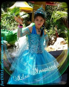 Kianah as Elsa @ Disney animal Kingdom