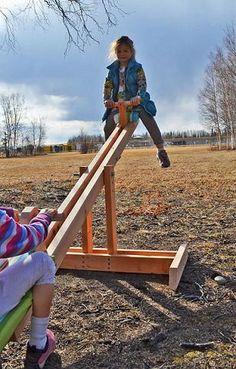 DIY Backyard See Saw Plans