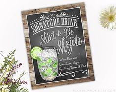 Decoración de la boda Signo de bebida firma por RockinChalk
