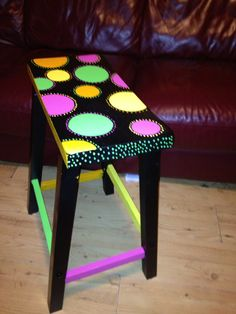 Look at the chair I painted for my classroom! I love it!