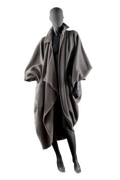 Issey Miyake   Oversized Batwing Wool Blend Coat {1980s}