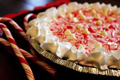 White Chocolate Peppermint Pie - SO GOOD! So making this come Thanksgiving :) Prepare @Autumn Caleb and @Bianca Romano