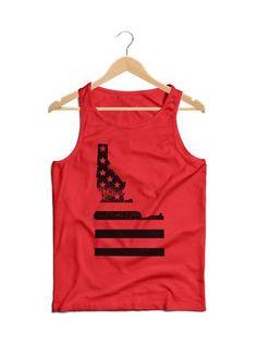 American Flag Men's Tank Top  #GoOutLocal #OnlyInIdaho #Boise #Flag #Idaho #Apparel #Mens  #TankTop