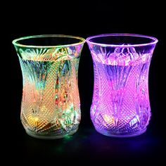 HORIZONLINE Luminous Induction LED Cup Awesome Drink Party Bar Wedding Clubs Christmas Halloween Holiday Couples Cup Single