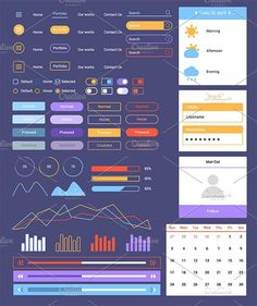 Flat UI Web Kit. UI Elements