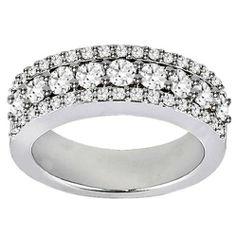 2.00 CT TW Prong Set Round Diamond Anniversary Wedding Ring in 14k White Gold VIP Jewelry Art. $2299.00