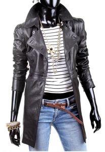 Płaszcz skórzany damski DORJAN ELZ810 Jackets For Women, Leather Jackets, Fashion, Fotografia, Cardigan Sweaters For Women, Moda, Fashion Styles, Fashion Illustrations, Leather Jacket