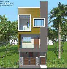 Exterior Design, Home Interior Design, Row House Design, Independent House, Model House Plan, House Map, Family House Plans, Micro House, Car Keys