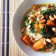 Healthy Living in Heels: Hello Fresh: Pompoen Curry met Spinazie en Cashewnoten
