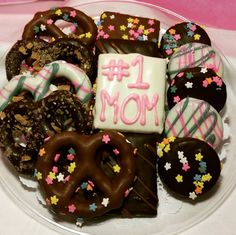 We Liked this on Instagram ... dcschocolates: Tell mom she is #1 this Sunday...Mother's Day! We will have these platters on hand at The Gym of Englewood this Friday and Saturday from 930am-1230pm for pick up. #dcschocolates #YouThinkItWeDipIt #custom #chocolates #mothersday #mom #ilovemom