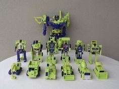 Transformers G1 Constructicons and Devastator. My cousin had them, and he walked me through transforming the Constructicons into Devastator. After a few tries I could do it without his help.