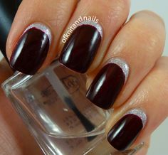 My First Ruffian - OPI This Gown Needs a Crown & Visions of Love