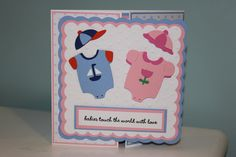 Boy and Girl Twin card, using Baby Steps Cartridge