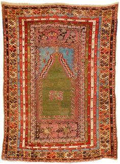Mid 19 th century Anatolian Prayer . Size 119 x 171 cm. I Kamil's Antique Rugs