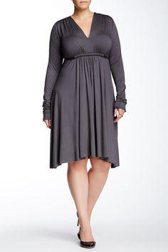 Long+Sleeve+Solid+Caftan+Dress+(Plus+Size)+by+Rachel+Pally+on+@HauteLook