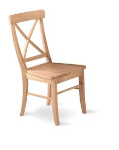 Amazon.com - X-Back Chair- Set of 2 Unfinished - Dining Chairs