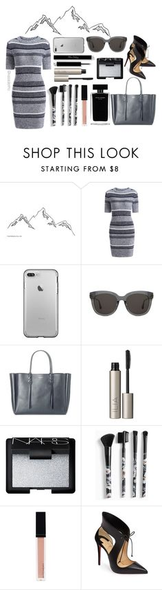 """""""Space Grey"""" by kasaderino ❤ liked on Polyvore featuring Gentle Monster, Lanvin, Ilia, Narciso Rodriguez, NARS Cosmetics, Torrid, Witchery and Christian Louboutin"""