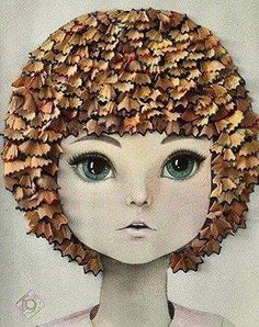 So many thing to create art from. Things to do with pencil shavings.