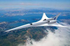 """Agência Espacial dos EUA quer viabilizar o transporte de passageiros em aeronaves que voam em velocidades superiores a do som. Pela definição da NASA, os próximos aviões supersônicos terão """"n…"""