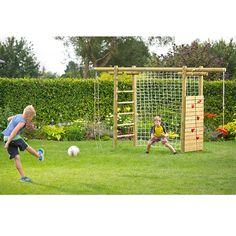 Klettergerüst Classic 360x120x230 aus Holz KDI mit Netz für Fußballtor von Gartenpirat®: Amazon.de: Spielzeug