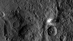 An odd mountain, 11°S, 316°E, on Ceres.