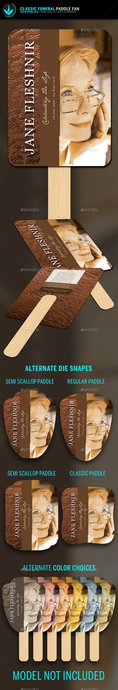 Leather Funeral Paddle Fan Template: