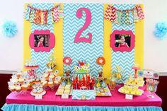 Chevron Sesame Street 2nd Birthday | CatchMyParty.com