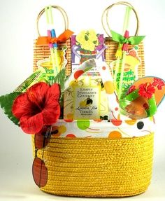 10 Best Beach Vacation Gift Basket Ideas Images Vacation Gift Basket Gift Baskets Vacation Gift