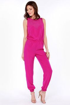 Goodnight Sweetheart Fuchsia Jumpsuit. Thinking about this little number for my graduation.