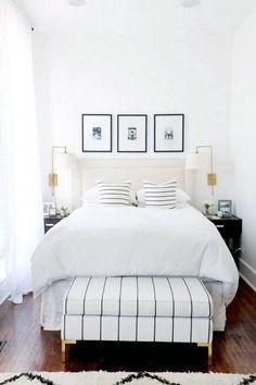 56 Trendy Bedroom Furniture Black And White Interior Design White Bedroom Set, Living Room White, White Rooms, White Walls, Bedroom Black, Patio Interior, White Interior Design, Black Bedroom Furniture, Bedroom Decor