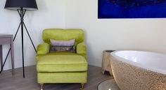 Little Polgarron, Cornwall by Jill Stein Interiors Jill Stein, Cornwall, Interior Inspiration, Sofas, Hotels, Chairs, Cushions, Interiors, Interior Design