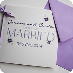 Hochzeitseinladung, Einladungskarte Für Hochzeit, Individuell Designt By  Die Kartenfrau