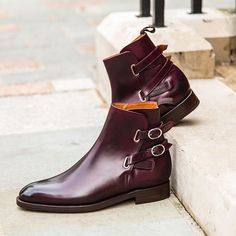 """jfitzpatrickfootwear: """"The Genesee Jodhpur Boot in Mulberry Calf now £369 (£307.50 Exvat) available at www.jfitzpatrickfootwear.com …. #jfitzpatrickfootwear #jfitzpatrick #shoesoftheday #theshoesnob #scarpe #zapatos #boots #jodhpur #style #mensstyle..."""