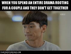 I've done this and I was beyond upset at the lack of my couple at the end of the drama!