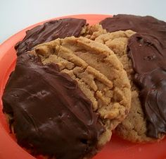 Butterfinger Cookies - chopped up candy bars in the cookies - then dipped in chocolate - YUM!