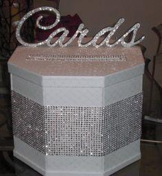 [ Wedding Card Box Ivory Bling Wedding Cards Wedding Ideas Party ] - Best Free Home Design Idea & Inspiration Diy Card Box, Diy Box, Diy Cards, Card Boxes, Card Box Wedding, Wedding Wishes, Dream Wedding, Wedding Day, Trendy Wedding