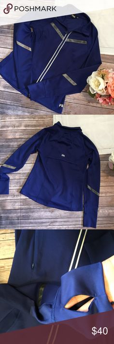 NWT Fila | Royal Blue Sport Jacket Size M NWT, this jacket is gorgeous! Features mesh detailing across the chest and on the arms. The sleeves have a thumb hole also that is there intentionally. Fila Tops Sweatshirts & Hoodies