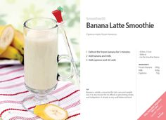 #Kuvings #Smoothie #Juice #Recipe - #Banana #Latte Smoothie with Whole Slow…