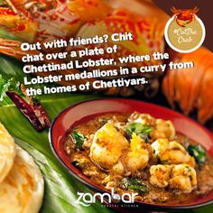 #CutTheCrab :  Out with friends? Chit chat over a plate of Chettinad Lobster!   Name one person you want to share this with.