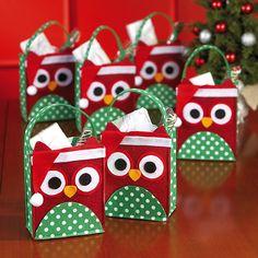 Christmas Owl Felt Treat Bags in Halloween 2012 from Lillian Vernon
