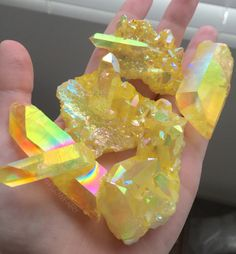iridescent yellow crystals